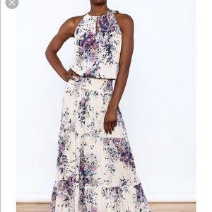 Lovestitch size medium floral maxi dress